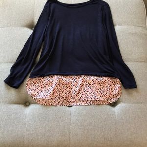 2-in-1 Jcrew Blouse, long sleeved, gently used.